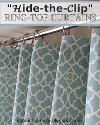 Curtains Ring Top Hide The Clip Ring Top Curtains So Much To Make