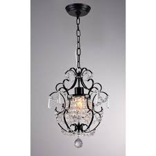 Indoor Chandeliers 11 In Black Indoor Chandelier With Shade Rl4025bl