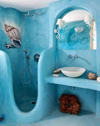 ideas for bathroom decorating themes bed and bath blue sky sea color wall and themed