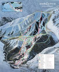 Map Of Utah Ski Resorts by Sundance Resort Trail Map Skicentral Com