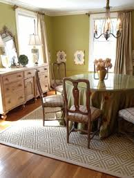 Area Rugs In Dining Rooms Bordered Sisal Area Rug In Dining Room Transitional Dining