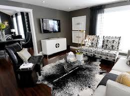 Best Black White Silver  Gold Images On Pinterest Living - Black and white family room