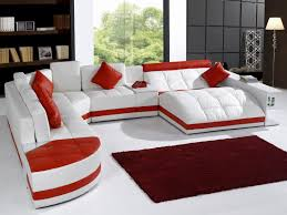 red leather sectional sofa marble coffee table top white marble