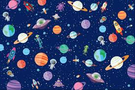 space wrapping paper kids wrapping paper dots and doodles dots and doodles design