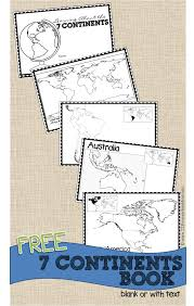 7 Continents Map Continents Book For Kids
