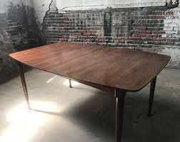 mid century modern dining table etsy