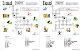 spanish irregular yo form verbs crossword and image ids worksheet
