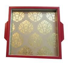 Brocade Home Decor Framed Gold Brocade Serving Tray Folkbridge Buy Gifts