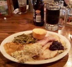 thanksgiving dinner plus dessert plus refillable sodas all for
