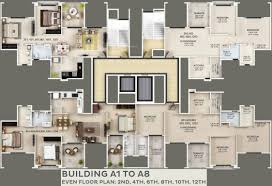 Floor Plan Of Bank by Gaurdian Eastern Meadows By Guardian Developers In Kharadi Pune