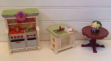 loving family kitchen furniture fisher price loving family dollhouse furniture lot patio table