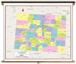 Douglas Arizona Map by Colorado State Political Classroom Map From Academia Maps