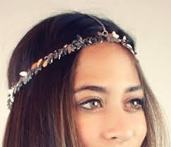 chain headpiece chain headpiece chain headdress chain silver leaf lovmely