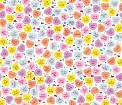 hearts candy aloha candy hearts fabric alohababy spoonflower