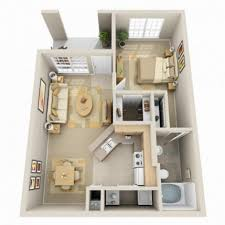 apartment 3d small modern one bedroom apartment using queen sized