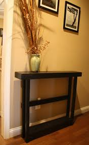 Hallway Accent Table Unique Primtiques Primitive Sleek Black