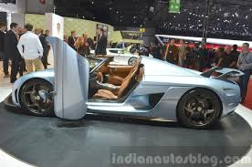 green koenigsegg regera koenigsegg regera side door open at the 2015 geneva motor show