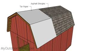 Gambrel Roof Barn Plans 12x16 Gambrel Shed Roof Plans Myoutdoorplans Free Woodworking