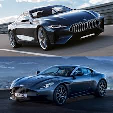 2018 aston martin db11 v photo comparison bmw 8 series concept vs aston martin db11