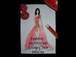 fashion illustration using color pencils how to sketch a dress