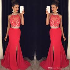 cheap gowns cheap prom dresses mermaid 2018 high neck appliques
