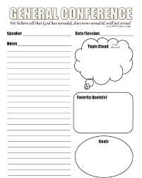 Note Sheet Template General Conference April 2013 You Re Invited Here S A Sheet To