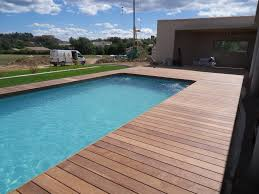 plage de piscine plage de piscine et terrasse en bois la verdière haut var pose