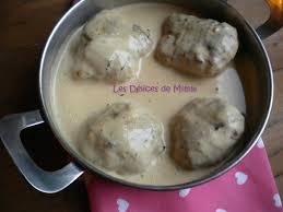 cuisiner les paupiettes paupiettes de poulet sauce crème au fromage ail et fines herbes