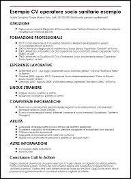 curriculum vitae formato europeo pdf da compilare online esempio cv operatore socio sanitario esempio curriculum vitae builder
