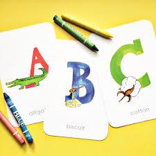 southern alphabet flash cards magnolia creative co