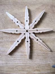 sew many ways easy handmade clothespin snowflake ornaments