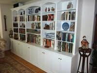 custom made built in bookshelf wall unit