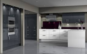 black gloss kitchen ideas looking grey gloss kitchen ideas with ceiling lighting 7717