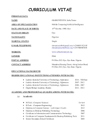 exle of cv resume format of a cv resume resume template ideas