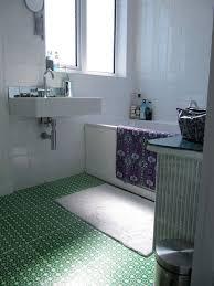 How To Paint A Tile Floor Bathroom - 10 stenciled u0026amp painted diy floors that make it work
