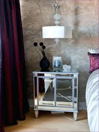bedroom wonderful mirror bed table mirrored glass bedside table