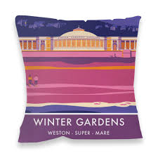 winter gardens weston super mare somerset fibre filled cushion