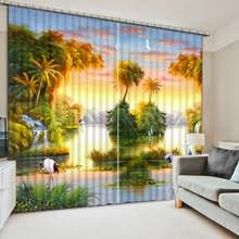 Custom Blackout Drapes Painting Curtain Promotion Shop For Promotional Painting Curtain