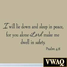 i will lie down and sleep in peace psalm 4 8 wall decal bible zoom