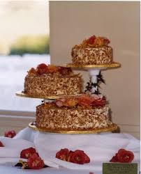 burnt almond wedding cake from u0027s bakery in san jose and i u0027m