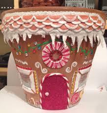 gingerbread house plant pot x clay pots pinterest