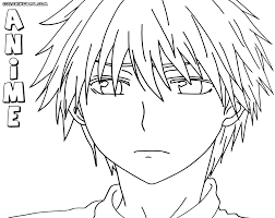 anime boy coloring pages coloring pages to download and print