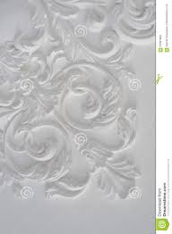 luxury white wall design bas relief with stucco mouldings roccoco