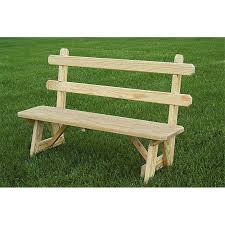 66 inch traditional picnic bench with back