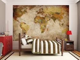 papier peint photo mappemonde motif vintage retro image murale designer wall mural world map photo wallpaper vintage large home office decor