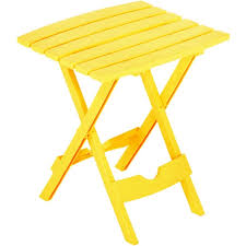 Folding Patio Side Table Quik Fold Yellow Side Table