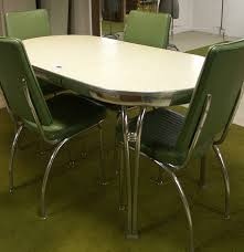 1950 u0027s retro howell chrome table and four chairs ebth