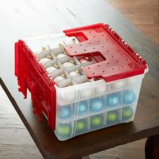 wing lid ornament storage box the container store