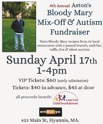4th annual aston u0027s bloody mary mix off u0026 autism fundraiser sunday