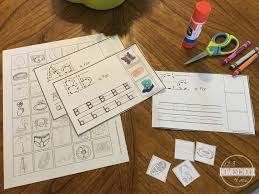 Sort Worksheets Alphabetically Cut And Paste Alphabet Book With Writing Practice